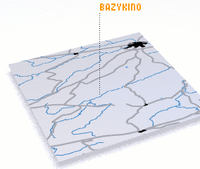 3d view of Bazykino