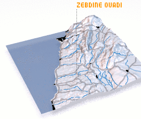 3d view of Ouâdi Zebdîne