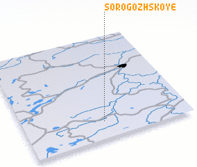 3d view of Sorogozhskoye