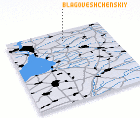 3d view of Blagoveshchenskiy