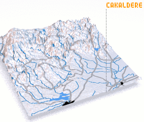 3d view of Çakaldere