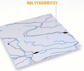 3d view of Malyye Kipritsy
