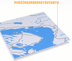 3d view of Pudozhgora-Mokeyevskaya