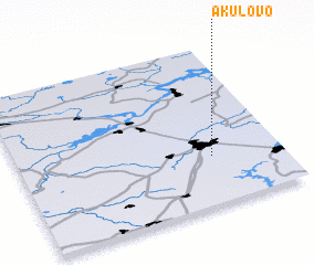 3d view of Akulovo