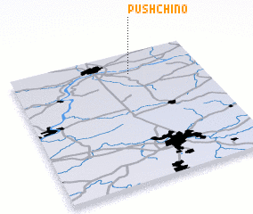 3d view of Pushchino