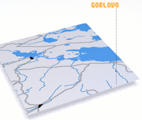 3d view of Gorlovo