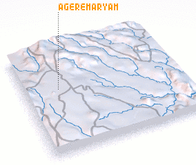 3d view of Āgere Maryam
