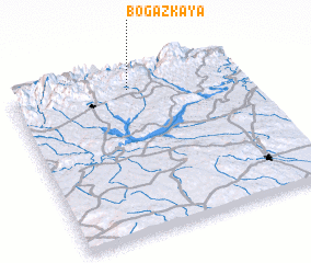 3d view of Boğazkaya