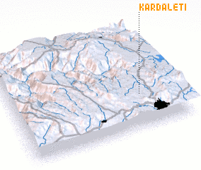 3d view of Kardaletī