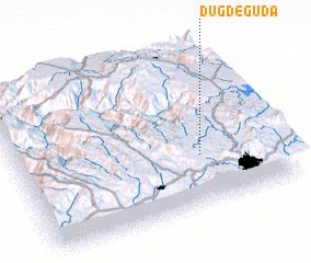 3d view of Dugde Guda