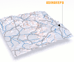 3d view of Ādī Hakefa