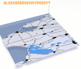 3d view of Aleksandrovskiy Pervyy