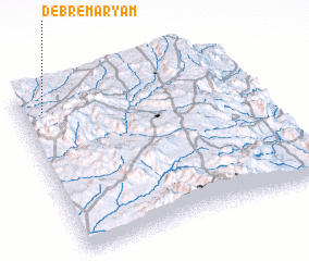 3d view of Debre Maryam