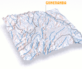 3d view of Gomen Āmba