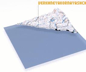 3d view of Verkhneyakornaya Shchel\