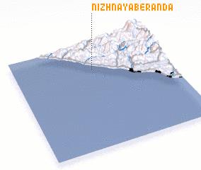 3d view of Nizhnaya Beranda