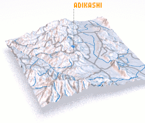 3d view of Ādī K'ashī
