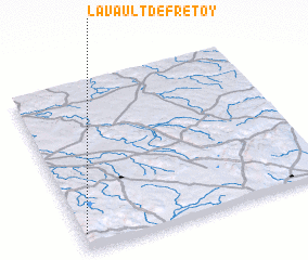 3d view of Lavault-de-Frétoy