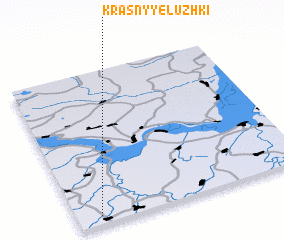 3d view of Krasnyye Luzhki