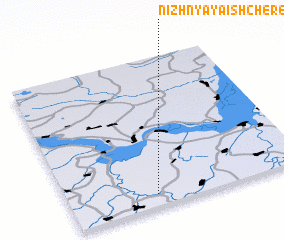 3d view of Nizhnyaya Ishchered\