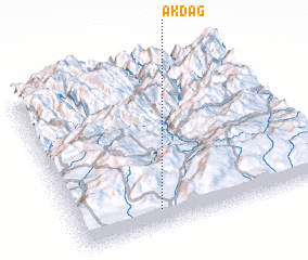 3d view of Akdağ