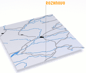 3d view of Rozhnovo