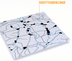 3d view of Novyy Karachan