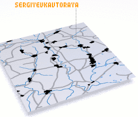 3d view of Sergiyevka Vtoraya