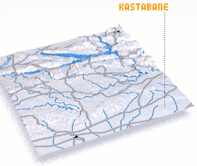 3d view of Kas Tabâne
