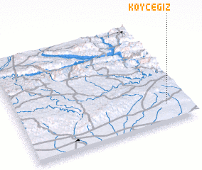 3d view of Köyceğiz
