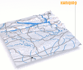 3d view of Kānī Qirq