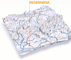 3d view of Ḩasan Parka