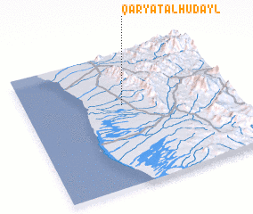 3d view of Qaryat al Hudayl