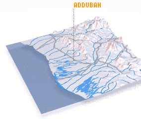 3d view of Aḑ Ḑubah