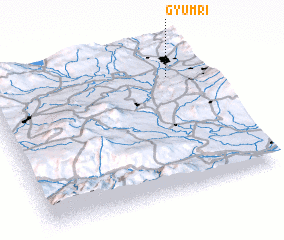 3d view of Gyumri