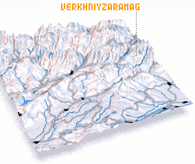 3d view of Verkhniy Zaramag