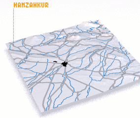 3d view of Ḩamzah Kūr