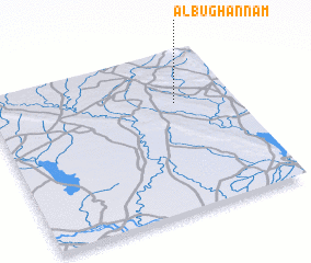 3d view of Ālbū Ghannām