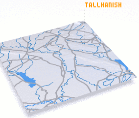 3d view of Tall Ḩanish