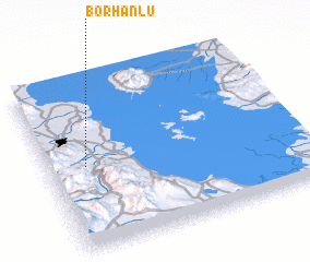 3d view of Borhānlū