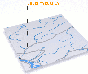 3d view of Chërnyy Ruchey