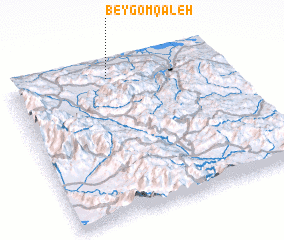 3d view of Beygom Qal'eh