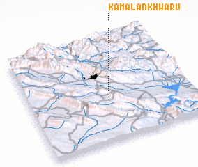 3d view of Kamalān Khwārū