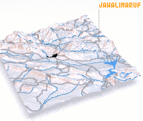 3d view of Jawāl-i Ma\