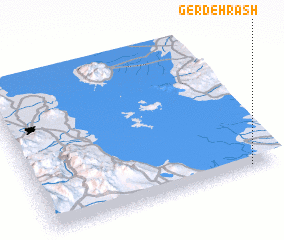 3d view of Gerdeh Rash