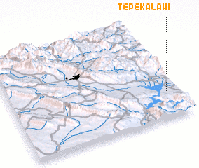 3d view of Tepe Kalāwī