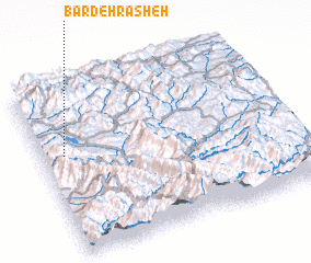 3d view of Bardeh Rasheh