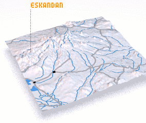 3d view of Eskandān