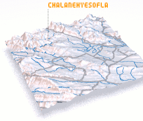 3d view of Chalāneh-ye Soflá