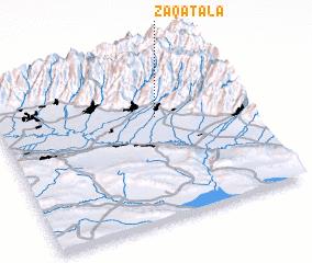 3d view of Zaqatala